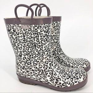 Pluie Pluie Size 3 Kids Cheetah Rain Boots